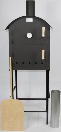 Holzbackofen le Rond inkl. Untergestell Schamottsteine Thermometer