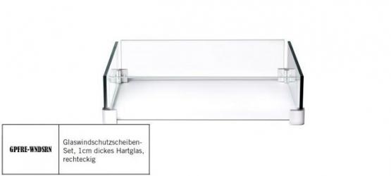 Napoleon Glas-Windschutz für Feuertisch rechteckig - GPFRE-WNDSC