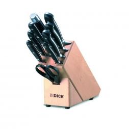 F.DICK - Messerblock Holz - Premier Plus - 9-teilig - bestückt (88070000)