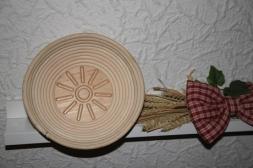 Gärkorb rund aus Peddigrohr -mit Bodenmuster Sonne- für Brote bis 1kg (V200.216)