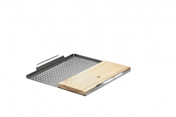 Napoleon grill basket with cedar plank    70026